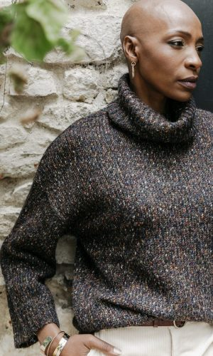BRUNE Paris- Pull en maille chiné