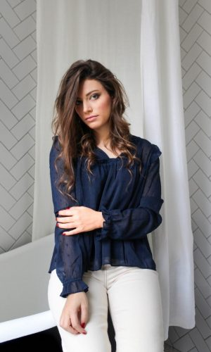 Brune Paris blouse bleu marine