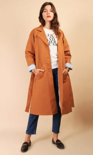 brune paris concept store trench camel